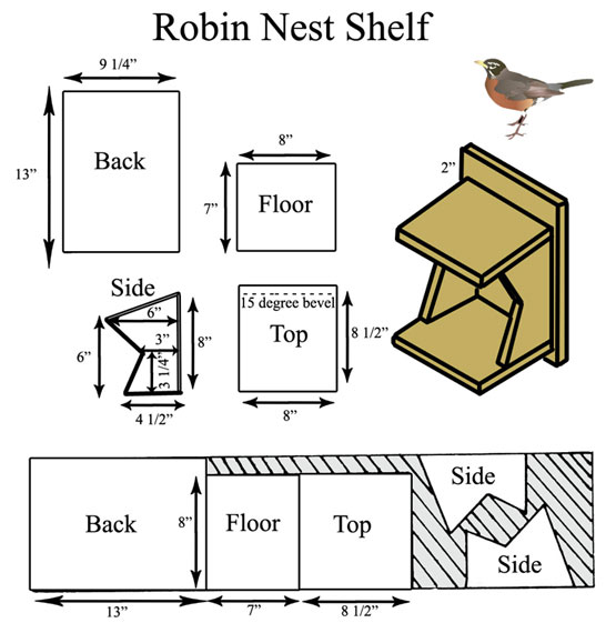 Robin Nesting Platform Design Adapted from Minnesota DNR
