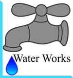 Water Works - Illustration of a dripping faucet