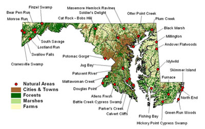 Natural Areas Map