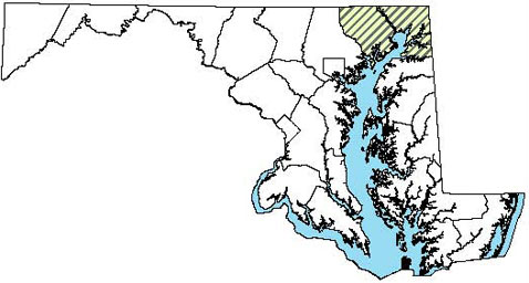 Maryland Distribution Map for Northern Map Turtle